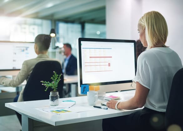 Business Professionals in a shared office environment